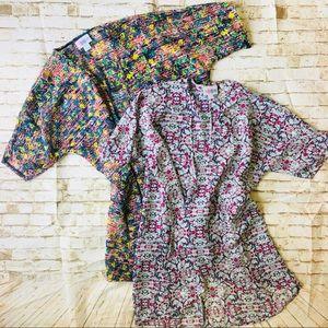 Lot Of 2 LuLaRoe Bianka Kimono Size 2 Sheer